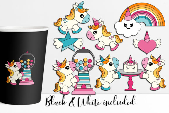 Download Free Unicorn Party Graphic By Darrakadisha Creative Fabrica for Cricut Explore, Silhouette and other cutting machines.