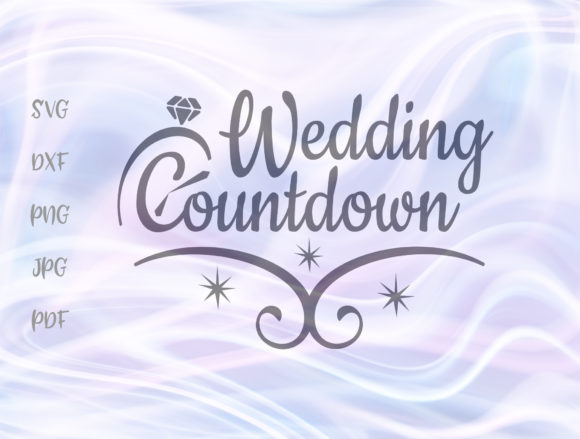 Download Free Wedding Countdown Ring Clipart Engaged Graphic By Digitals By for Cricut Explore, Silhouette and other cutting machines.