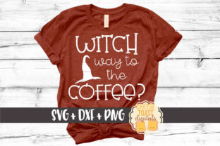 Witch Way to the Coffee Graphic By CheeseToastDigitals
