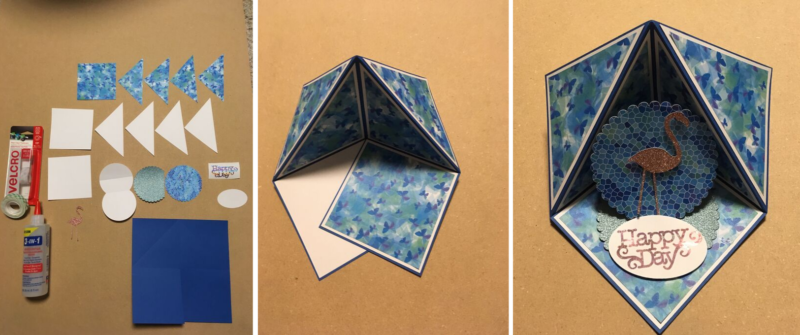 Step-by-step to create a Triangle Pop-up Card