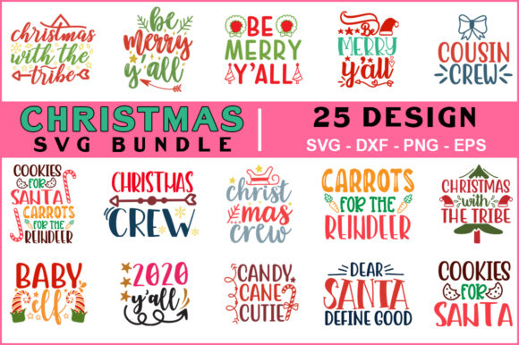 25 Christmas Svg Bundle Graphic Crafts By mizanuralam80
