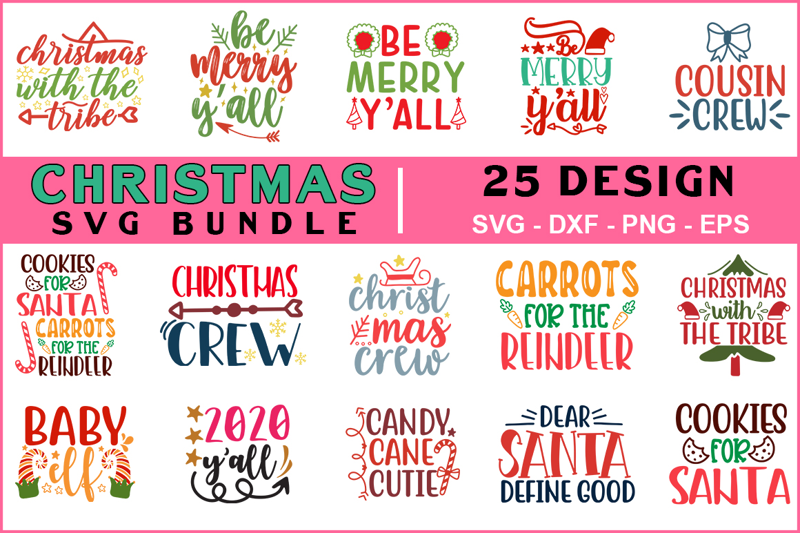 Download Free 25 Christmas Bundle Graphic By Red Box Creative Fabrica for Cricut Explore, Silhouette and other cutting machines.
