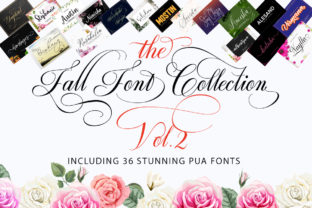 The Fall Font Collection Vol. 2