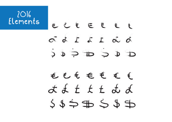 Print on Demand: 2016 Euro Pound Dollar Currency Symbols Graphic Crafts By GraphicsBam Fonts - Image 2