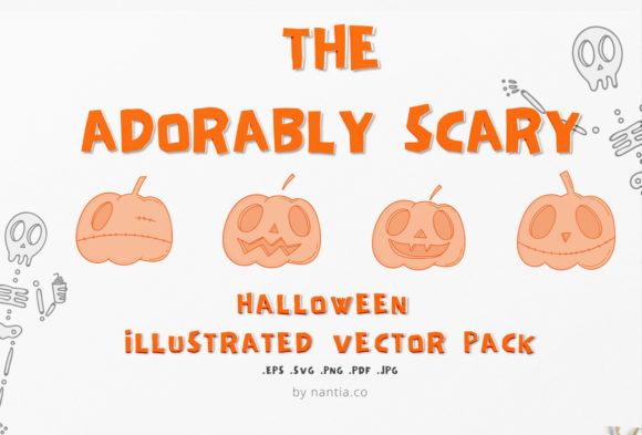 Print on Demand: Adorably Scary Halloween Pack Graphic Illustrations By nantia