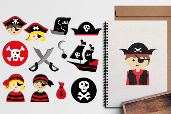 Print on Demand: Ahoy Pirates Graphic Illustrations By Revidevi - Image 1
