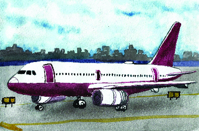 Download Free Airplane On At Gate Watercolor Style Svg Cut File By Creative for Cricut Explore, Silhouette and other cutting machines.