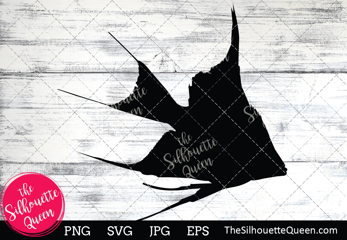 Download Free Angel Fish Silhouette Graphic By Thesilhouettequeenshop for Cricut Explore, Silhouette and other cutting machines.