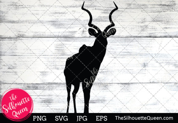 Download Free Antelope Silhouette Graphic By Thesilhouettequeenshop Creative for Cricut Explore, Silhouette and other cutting machines.