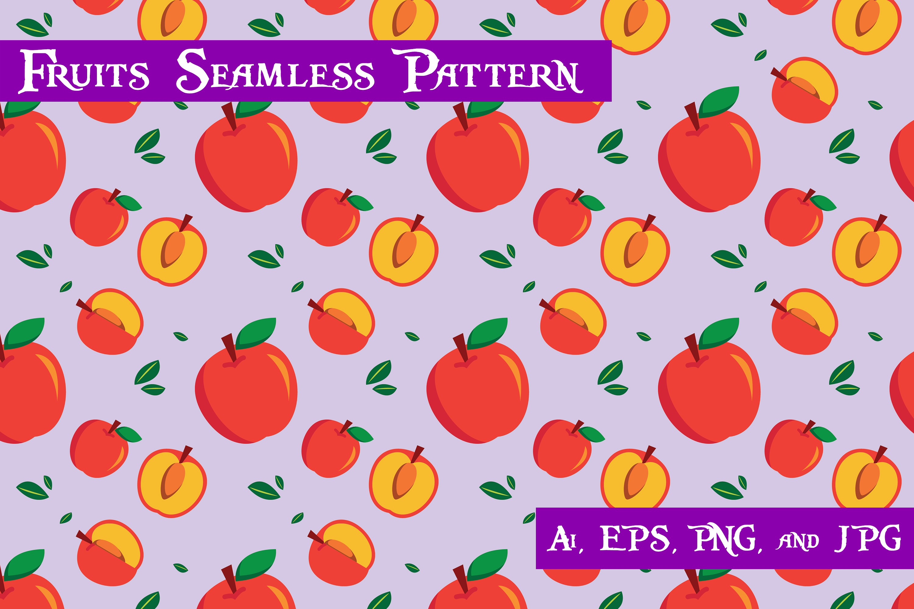 Download Free Apple Fruits Seamless Pattern Graphic By Purplespoonpirates for Cricut Explore, Silhouette and other cutting machines.