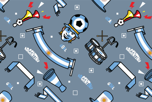 Download Free Argentina Soccer Supporter Pattern Grafico Por Superzizie for Cricut Explore, Silhouette and other cutting machines.
