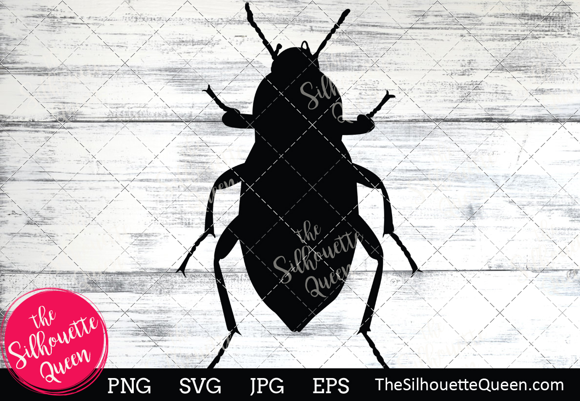 Download Free Beetle Silhouette Graphic By Thesilhouettequeenshop Creative for Cricut Explore, Silhouette and other cutting machines.