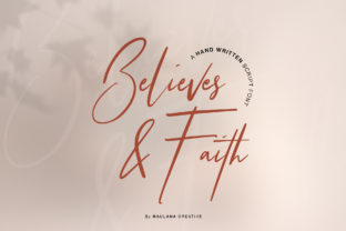Print on Demand: Believes and Faith Script & Handwritten Font By Maulana Creative