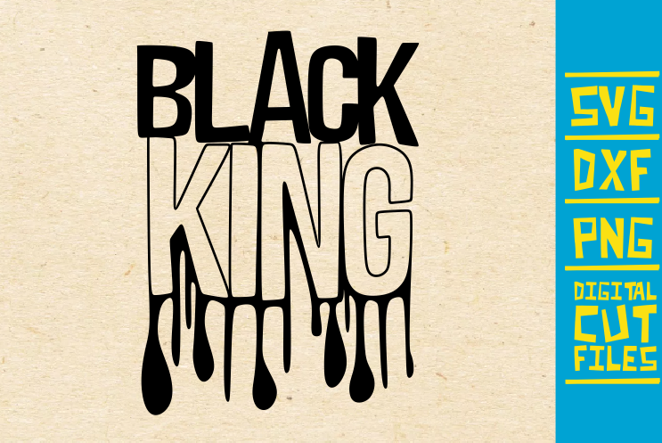Download Free Black King Afro Men Dripping Graphic By Svgyeahyouknowme for Cricut Explore, Silhouette and other cutting machines.