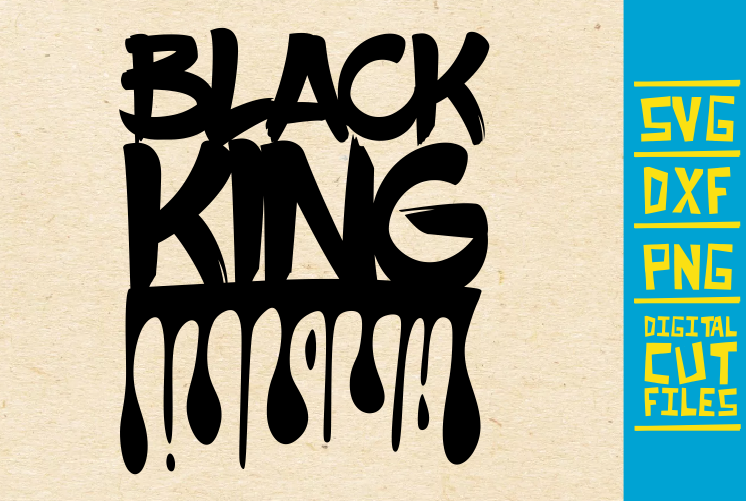 Download Free Black King Black Woman Dripping Graphic By Svgyeahyouknowme for Cricut Explore, Silhouette and other cutting machines.