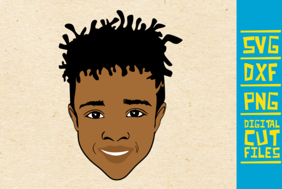 Download Free Black Boy With Dreadlocks Svg Afro Boy Graphic By SVG Cut Files