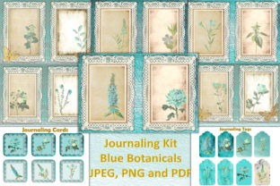 Blue Botanicals Backgrounds Free Clipart Graphic By The Paper Princess