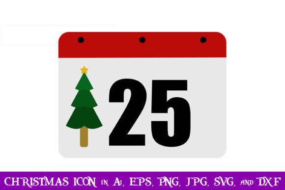 Download Free Calendar Christmas Icon Graphic By Purplespoonpirates Creative for Cricut Explore, Silhouette and other cutting machines.