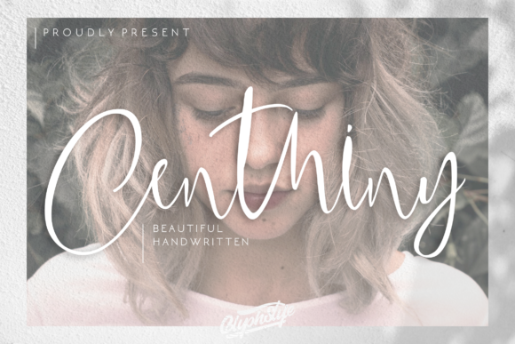 Print on Demand: Centhiny Script & Handwritten Font By glyphstyle