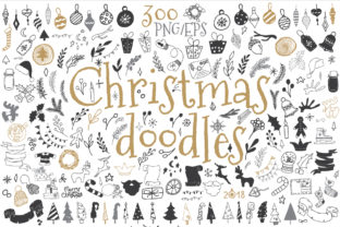 Christmas Doodle Icon and Design Element Graphic By EvgeniiasArt