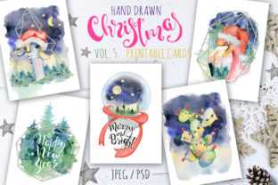 Christmas Watercolor Cards Vol.5 Graphic By EvgeniiasArt