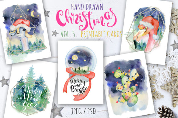 Christmas Watercolor Cards Vol.5 Graphic Illustrations By EvgeniiasArt