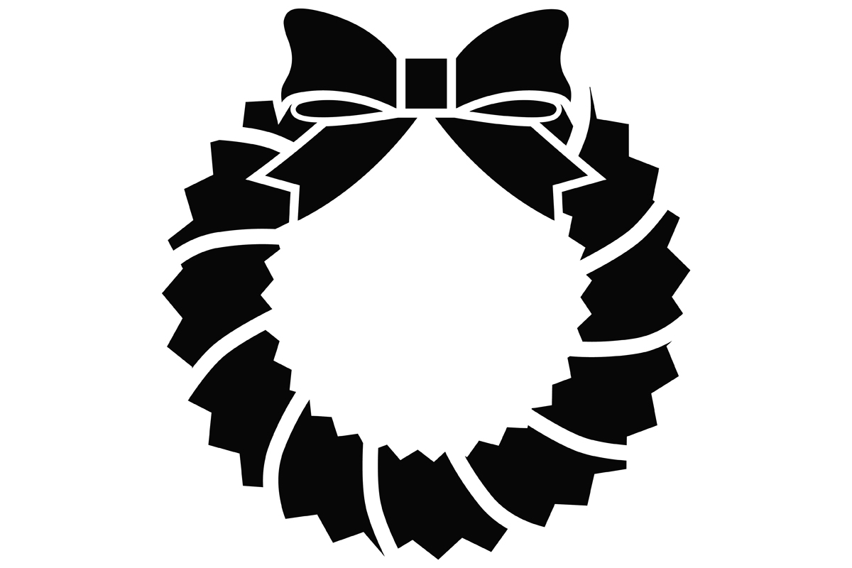 Download Free Christmas Wreath Graphic By Idrawsilhouettes Creative Fabrica for Cricut Explore, Silhouette and other cutting machines.