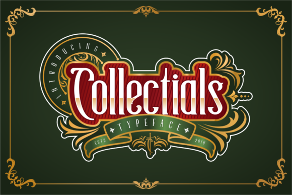 Print on Demand: Collectials Display Font By 24Design Studios