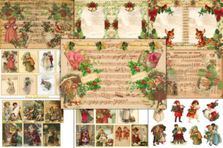 Country Christmas Backgrounds & Clipart Graphic By The Paper Princess