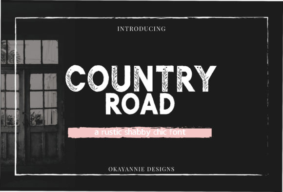 Print on Demand: Country Road Sans Serif Font By OkayAnnie Designs - Image 1