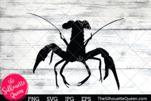 Crayfish Silhouette Graphic Crafts By thesilhouettequeenshop