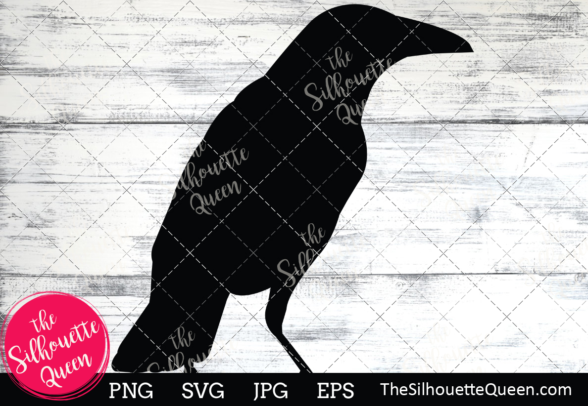 Download Free Crow Silhouette Grafico Por Thesilhouettequeenshop Creative for Cricut Explore, Silhouette and other cutting machines.