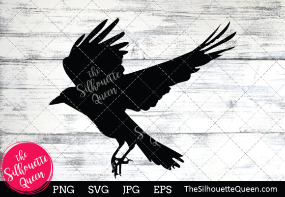 Download Free Crow Silhouette Graphic By Thesilhouettequeenshop Creative Fabrica for Cricut Explore, Silhouette and other cutting machines.