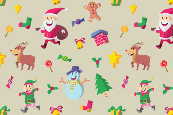 Cute Christmas Pictures.Cute Christmas Character Pattern