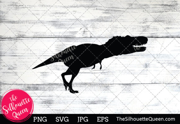 Download Free Dinosaur Silhouette Graphic By Thesilhouettequeenshop Creative for Cricut Explore, Silhouette and other cutting machines.