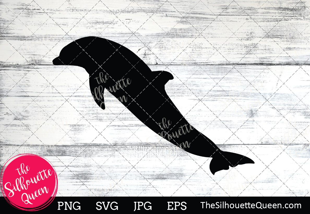 Download Free Dolphin Silhouette Graphic By Thesilhouettequeenshop Creative for Cricut Explore, Silhouette and other cutting machines.