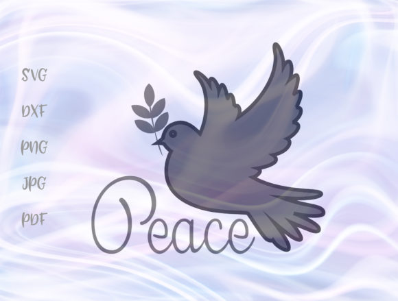 Download Free Dove Of Peace Pacifist Symbol Emblem Graphic By Digitals By for Cricut Explore, Silhouette and other cutting machines.