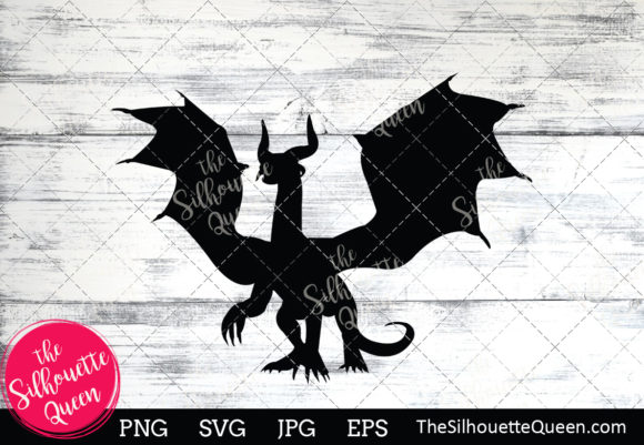 Dragon Silhouette Gráfico Crafts Por thesilhouettequeenshop