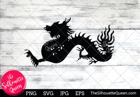 Dragon Silhouette Graphic Crafts By thesilhouettequeenshop
