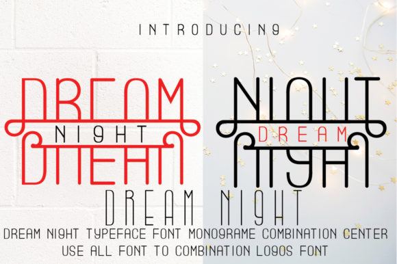 Print on Demand: Dream Nigt Display Font By jehansyah251
