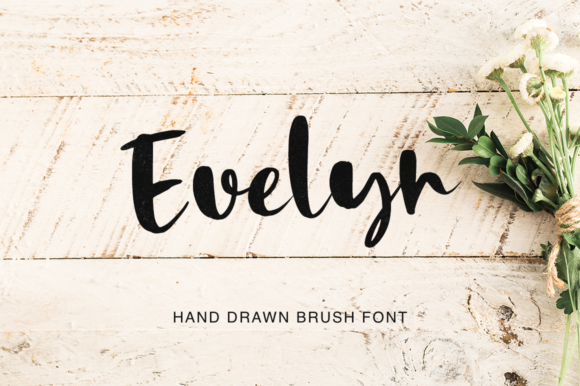 Print on Demand: Evelyn Script & Handwritten Font By Pasha Larin - Image 1