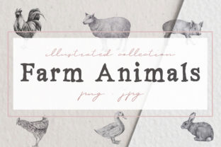 Farm Animals Illustration Pack Graphic By nantia