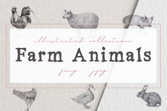 Print on Demand: Farm Animals Illustration Pack Graphic Illustrations By nantia