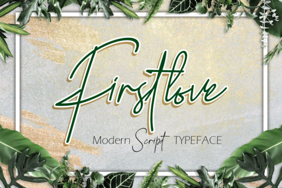 Print on Demand: Firstlove Script & Handwritten Font By emanesdsign