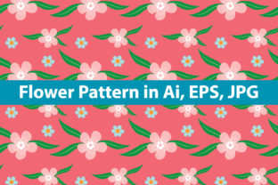 Flower Pattern Graphic By redsugarstudio