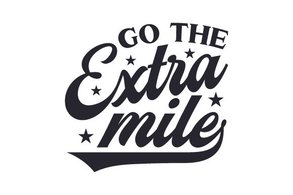 Go the Extra Mile Sports Craft Cut File By Creative Fabrica Crafts
