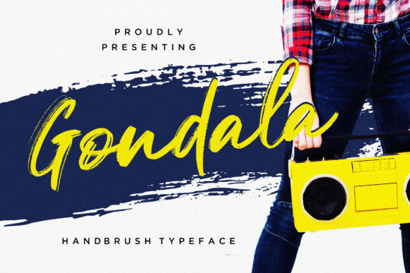 Print on Demand: Gondala Script & Handwritten Font By CreatypeStudio