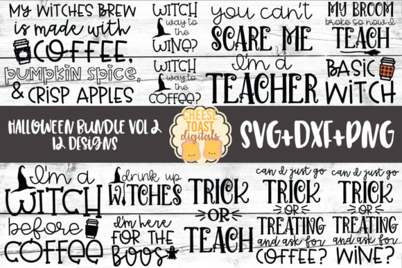 Download Free Halloween Bundle Vol 2 12 Designs Graphic By for Cricut Explore, Silhouette and other cutting machines.
