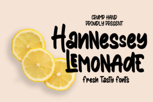 Hannessy Lemonade Font By stefiejustprince
