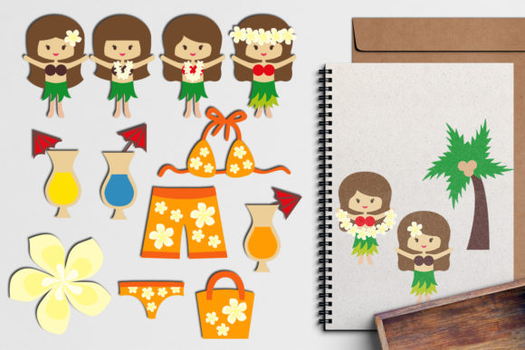 Print on Demand: Hawaii Girls Graphic Illustrations By Revidevi - Image 1